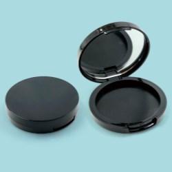 Mirrored Round Press Powdered Compact Baoyu 0288D