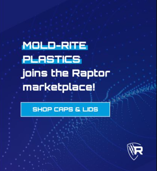 Raptor Packaging Offering a Variety of Plastic Caps and Lids Through Mold-Rite Plastics