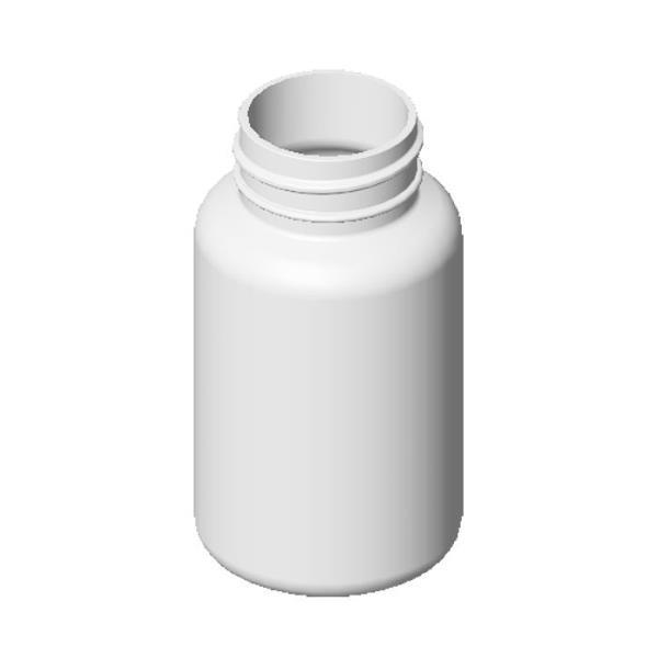 120cc HDPE White Round Packer