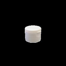 24-410 P/P White Smooth Flip Top Cap S1, No Liner - 757