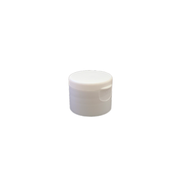 24-410 P/P White Smooth Flip Top Cap S3, No Liner - 763