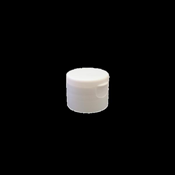 24-410 P/P White Smooth Flip Top Cap S3, No Liner - 762