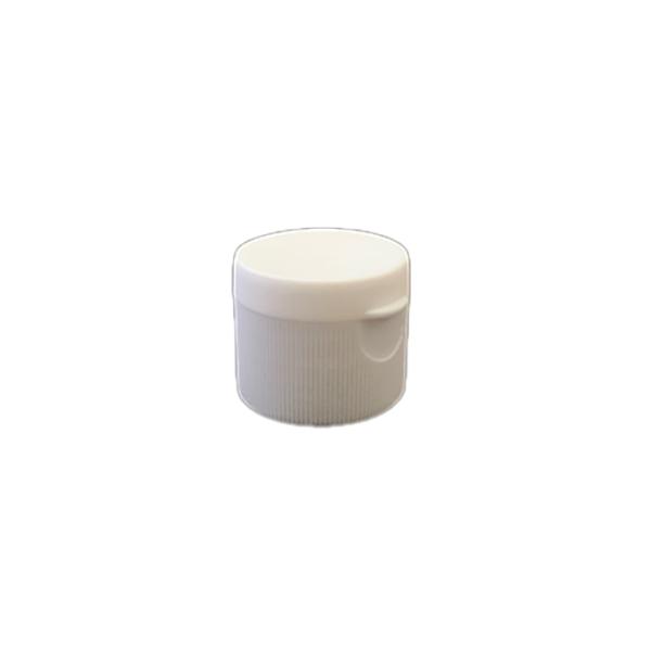 28-410 P/P White Ribbed Flip Top Cap