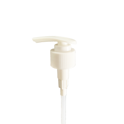 28-410 White Lotion Pump P/P with 2cc output & 8.625 FBOG dip tube