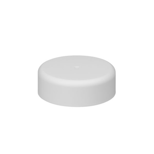 45mm Smooth Matte White Child Resistant Closure with Foam Liner