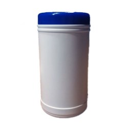 110mm P/P White Canister With Lid