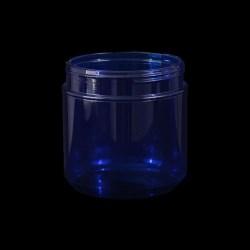 Round 5in PET Blue Plastic Bottle, 46oz