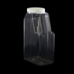 Pinch Grip PET Clear Plastic Bottle, 46oz