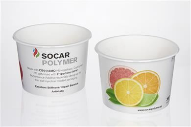 SOCAR Polymer launches two new impact copolymer polypropylene grades ideal for rigid, thin-wall packaging