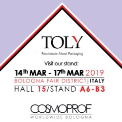 Toly exhibiting at COSMOPROF Bologna