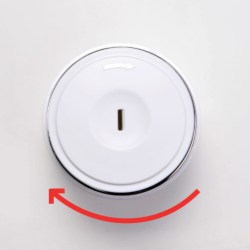 Nest-Fillers Dial Jar for cosmetic and personal care products