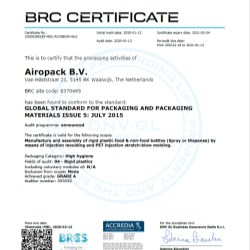 Airopack Achieves BRC Certification for Manufacturing Facility