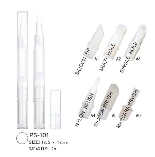 Makeup pen with multiple applicator options
