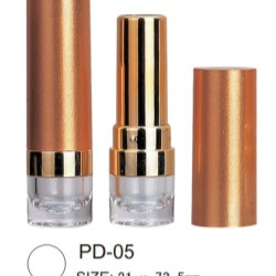 Packaging with clear base revealing lipstick color