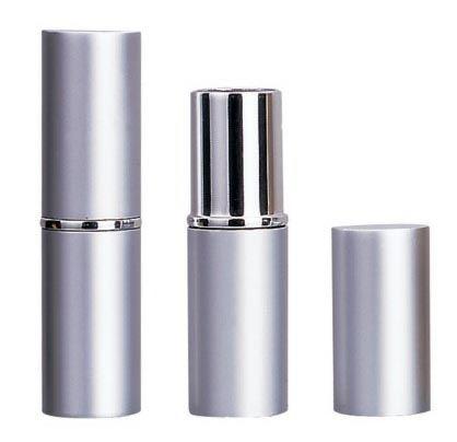 Round, aluminium lipsticks