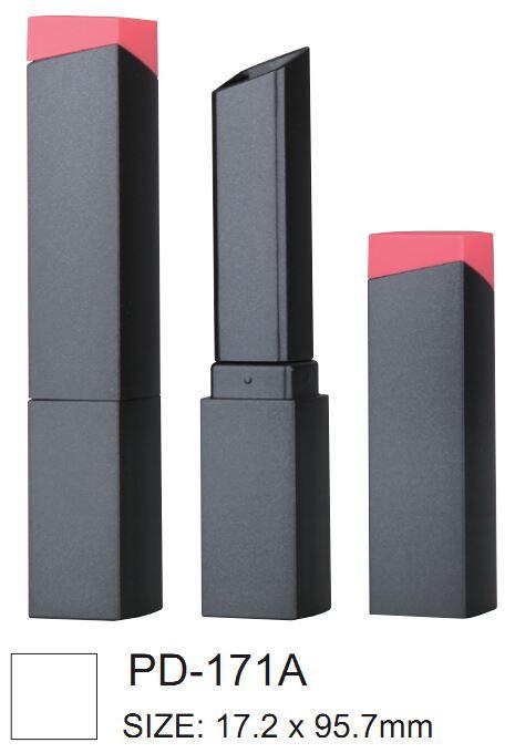Long, square, plastic lipsticks