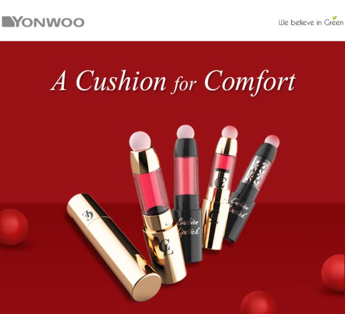 Ultimate comfort with Yonwoo's Cushion Lipstick