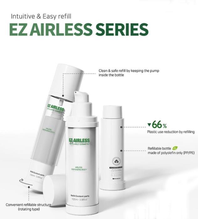 Yonwoo/PKGs popular Refillable EZ Airless Series expanded