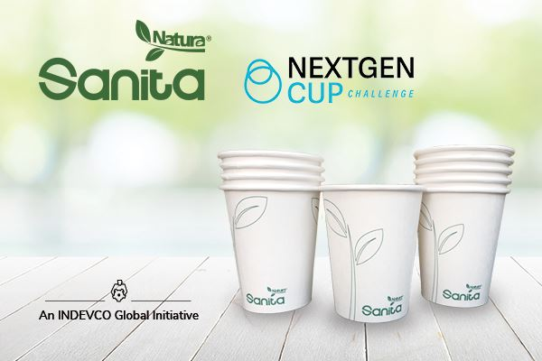 INDEVCOs Sanita Natura recyclable cup shortlisted in NextGen Cup Challenge