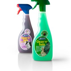 Redesigned trigger bottle gives Johnsons Veterinary Clean n Safe a fresher look