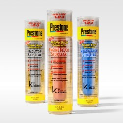 TricorBrauns engaging packaging for Prestone's New Stop Leak products allows consumers to view the elements