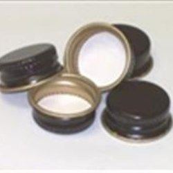 22-400, Metal Continuous Thread Closure, Pv Plain,
