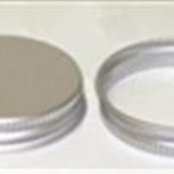 33-400, Aluminum Continuous Thread Closure, F217 Plain, Clear Coat In and Out,