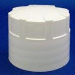 38-430, P/P Continuous Thread Closure, F828/Ispe-U10 Plain, Land Ribbed Skirt, Smooth Top,