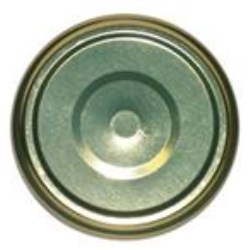 82-2040, Metal Lug Closure, Plastisol Button, No Print,
