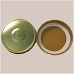 70-450, Metal Continuous Thread Closure, Plastisol Button,