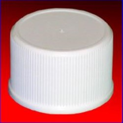 24-410, P/P Continuous Thread Closure, SureSeal Land Fine Ribbed Skirt, Mat/Stipp Top,