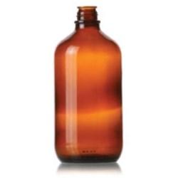 1 ltr Glass Packer, Round, Amber, 33-430