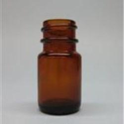 8 ml Glass Packer, Round, Amber, 20-400