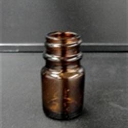 6 cc Glass Packer, Round, Amber, 20-400 GPI finish