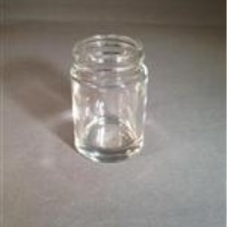 0.75 oz Glass Jar, Round, Flint, 33-400