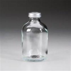 50 ml Glass Vial, Round, Flint, 20Stopper finish Sterile