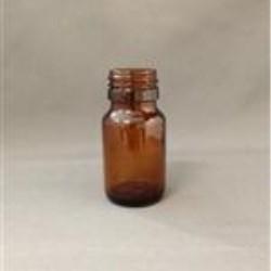 30 ml Glass Type 3 Packer, Round, Amber, 28mm Twist finish