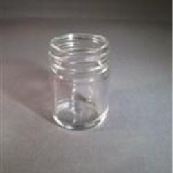 1.17 oz Glass Jar, Round, Flint, 38-405