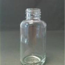50 ml Glass Boston Round, Round, Flint, 24-410 Tall