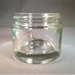 2 oz Glass Jar, Round, Flint, 58-400 Heavy Weight