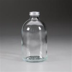 100 ml Glass Vial, Round, Amber, 20Special finish Sterile