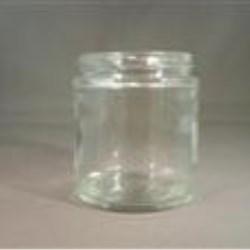 4 oz Glass Jar, Round, Flint, 58-405 Straight Sided