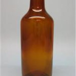 250 ml Glass Type 3 Vial, Round, Amber, 30-2710 Long Neck