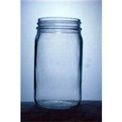 8 oz Glass Jar, Round, Flint, 58-405