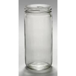 8 oz Glass Jar, Round, Flint, 58-2020