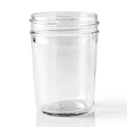 8 oz Glass Jar, Round, Flint, 70-450 Squat