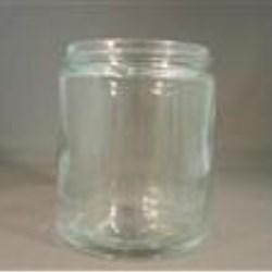 8 oz Glass Jar, Round, Flint, 70-400 Straight Sided