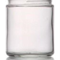 9 oz Glass Jar, Round, Flint, 70-400 Straight Sided