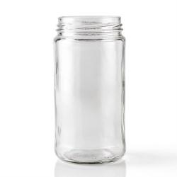 12 oz Glass Jar, Round, Clear, 63-405