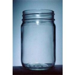 12 oz Glass Jar, Round, Flint, 70-450